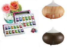 Set of Aroma Diffuser Aromatherapy Purifir & Various Scents Plant Essential Oils