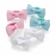 New Ladies Pastel Glitter Polka Dot 4cm Bow Hair Ponio Set Accessories