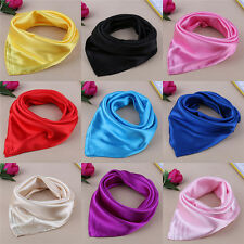 Women Lady Small Square Satin Silk Scarf Smooth Wrap Scarves Handkerchief Hot TO