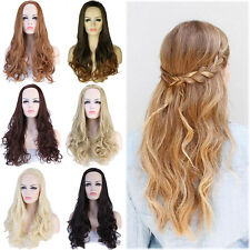 Fashion Women Ladies Half Wig Soft Long Straight Hair Synthetic Wigs Daily #6z