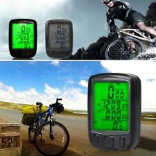 Black Utility Cycling LCD Bicycle Odometer Waterproof Bike Cycle Speedometer BG