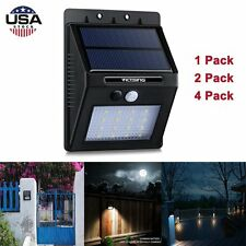 16 LED Solar Powered Motion Sensor Lamp Outdoor Garden Wall Light 1/2/4 Pack