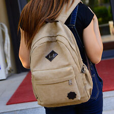 Unisex Canvas Bag Rucksack Campus Satchel School Bag College Satchels Book Bag