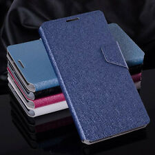 Luxury PU Leather Silk Grain Flip Wallet Case Cover For Nokia Various Models