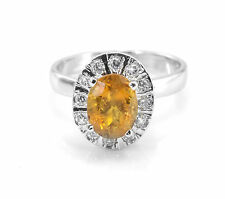 925 Sterling Silver Ring with Oval Cut Yellow Tourmaline Natural Gemstone eBay.
