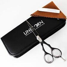 "PROFESSIONAL HAIRDRESSING BARBER SALON HAIR CUTTING SCISSORS SHEARS 4.5"" BLACK"