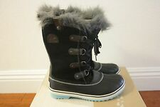 SOREL Kids Girls Tofino Winter Boots NEW Size 1 Youth Black Iceberg