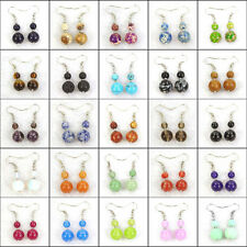 women's fashion drop dangle earrings 6mm 10mm natural gemstone stone beads