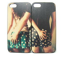 Couples lovers man woman behind hip Cover Cases Skins case for iPhone 5 5S SE