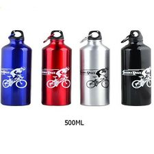 500ml 750ml Aluminium Sports Gym Bottle Cycling Hiking Flask Water Drink