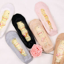 1 Pair Women's Invisible Loafer Lace Floral Boat Liner Low Cut Cotton Boat Socks