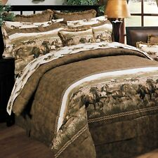 Wild Horses Comforter and Sheet Bedding Sets - Queen Size