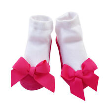 1 Pair Baby Girl Bow Knot Long Cutton Socks Shoe Shape Stockings <24Months