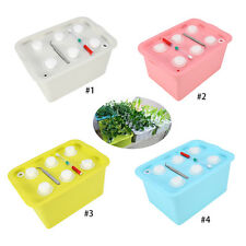 6 Holes Veg Plant Site Hydroponic System Grow Kit Bubble Greenhouse Garden Box H
