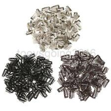 100Pcs Steel Snap Comb Clips 10 Teeth for Toupees Wigs Weft Hair Extensions