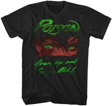 80's OPEN UP AND SAY AHH Poison Glam Hair Metal Rock Band Licensed Tour T-Shirt