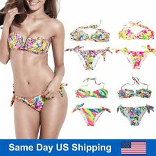 Bandeau Bikini Swimsuit Top Plus Size Two-piece Cheap Cheeky Padded Bathing Suit