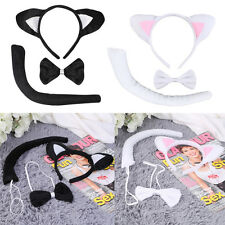 Animal Tail & Ear Headband & Bow Tie 3 pcs Tail Party Little Cat Christmas RB