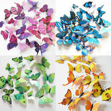 12pcs 3D Butterfly Sticker Art Design Decal Wall Home Decor Room Decorations RB