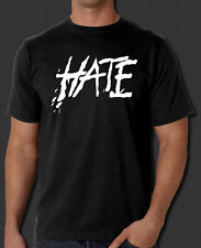 """Pink Floyd The Wall """"HATE"""" New Black T-Shirt S-6XL Pink Floyd The Wall """"HATE"""""""