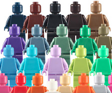 Custom Minifigures Blank Unprinted Colourful Unpainted DIY Plain Building Blocks