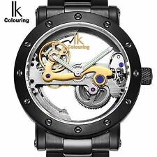 IK colouring Hollow Skeleton Automatic Mechanical Watches Mens Top Brand Luxury