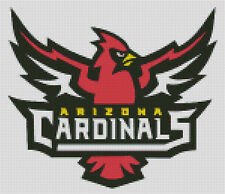 Cross stitch chart, Pattern, Arizona, Cardinals, NFL, American, Football, US.