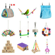 Multi Swing Hanging Parrot Bird Toy Nest Bed Rope Cage Bell Parakeet Cockatiel