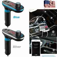 Bluetooth FM Transmitter Dual USB Hands-free Car Kit Charger for iPhone Samsung