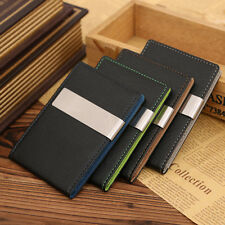 Mens' PU Leather Money Clip Wallets Bifold Slim ID Credit Card Holders Wallet