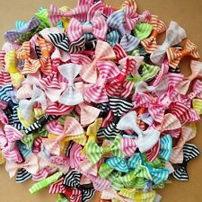 Wholesale 50pcs Mixed Striped bow Baby Kid Girls Hairpins Clips Hair Accessories