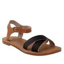 TIMBERLAND Women's EK Sheafe Ankle Strap Leather SANDALS-  NEW -BLACK 1st choice