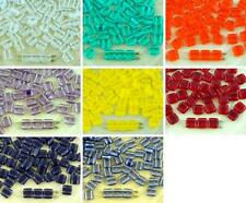 40pcs Crystal Tile Flat Square 2 Two Hole Czech Glass Beads 6mm