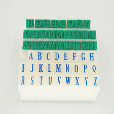 A-Z English Alphabet Letters Arabic Number Plastic Seal Rubber Stamp Combination