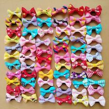 50pcs Hair Accessory Bowknot Grosgrain Ribbon Hair Bow With Clip For Kids Girls