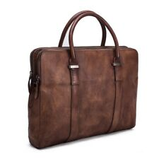 100% Genuine Leather Mens Business Briefcase Messenger Laptop Shoulder Bag