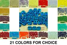 40pcs Crystal Tile Flat Square 2 Two Hole Czech Glass Beads 6mm 2
