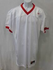 College Authentic Blank Football Jersey White with Red Trim