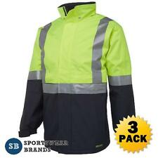 3 x Hi Vis Day Night Jacket 3M Tape Waterproof Workwear Safety Size S-5XL 6DATJ