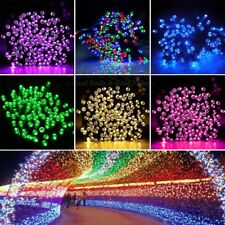 50 100 200 LED String Solar Powered Fairy Lights Garden Christmas Outdoor Party
