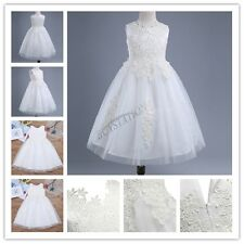 Princess Baby Girl Party/Wedding Dress Water-soluble Flower Sleeveless Lace Gown