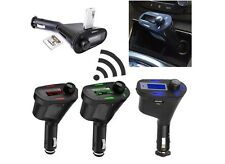 Car Kit Bluetooth Hands-free FM Transmitter MP3 Player USB Charger New No Tax