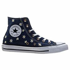 Converse Chuck Taylor All Star Hi Navy Fresh Yellow Women Canvas Hi-Top Trainers