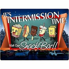 Dancing Movie Snacks Intermission Time Home Theater Wall Decal 12 x 16