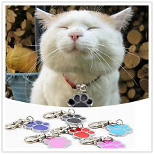 Unique Stainless Steel Paw Print Pendant Necklace Charm Tag For Pet Dog Cat ZP