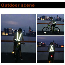 Traffic Night Work Security Running Cycling Safety Reflective Vest Jacket TE