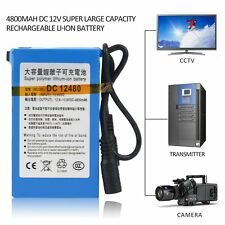 4800MAH DC 12V Super Large Capacity Rechargeable Li-ion Battery For Camera TE