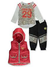"""Apple Bottoms Baby Girls' """"Fearless Feline"""" 3-Piece Outfit"""