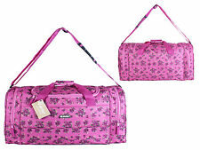 Pink Floral Womens Hand Luggage Cabin Bag Travel Flight Holdall Weekend Gym