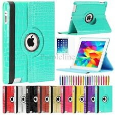 Crocodile 360 Rotating Magnetic PU Leather Case Smart Cover Stand For iPad 2 3 4